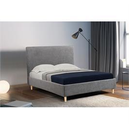 מיטה זוגית מרופדת בד מבית GAROX דגם ASHLEY