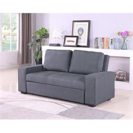 ספה נפתחת צבע אפור בפעולה פשוטה וקלה הופכת למיטה זוגית מבית GAROX דגם קומפקט