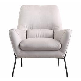 כורסא מעוצבת מרופדת בד רחיץ עם רגלי מתכת HOME DECOR דגם רובי