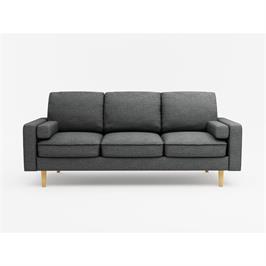 ספה תלת מושבית בעיצוב קלאסי בד פוליאסטר נעים למגע מבית BRADEX דגם MARDI