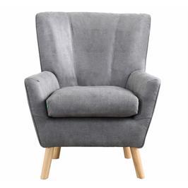 כורסא קלאסית מעוצבת מרופדת בד רחיץ עם רגלי עץ מלא HOME DECOR דגם ורנה