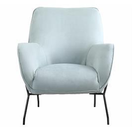 כורסא מעוצבת מרופדת בד רחיץ עם רגלי מתכת HOME DECOR דגם פלורי