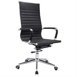 כסא מנהלים יוקרתי מרופד עור מבית BRADEX  דגם VIKAN