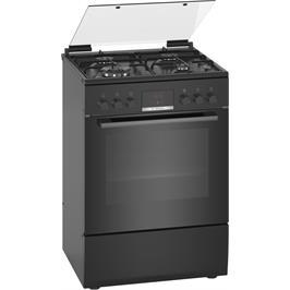 תנור משולב כיריים 66 ליטר בעיצוב בגימור שחור מבית BOSCH דגם HXR39IH61Y