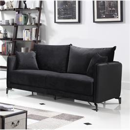 ספה תלת מושבית בעיצוב מודרני מרופדת בד קטיפתי HOME DECOR דגם קיטו