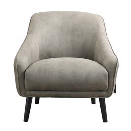 כורסא מעוצבת מרופדת בד רחיץ עם רגלי עץ מלא HOME DECOR דגם טיבולי