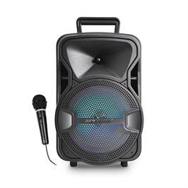 בידורית קריוקי ניידת 1000W רמקול עם תאורת דיסקו וחיבור למיקרופון חוטי דגם V-8100