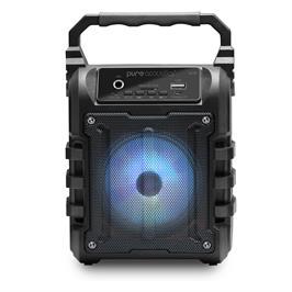 בידורית קריוקי בלוטוס ניידת עם תאורת דיסקו עד 8 שעות ניגון דגם LX-10