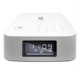 מערכת MUSIC POWER CENTER סטריאו בלוטוס עם רדיו שעון מעורר וטעינה אלחוטית Qi תוצרת Pure Acoustic