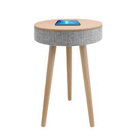שולחן מעוצב עם רמקול בלוטוס ועמדת טעינה אלחוטית דגם BL-301