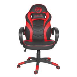 כיסא גיימינג איכותי בגימור עור מבית MARVO SCORPION כולל כרית תמיכת צוואר דגם DR-116