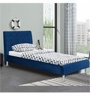 מיטת יחיד מעוצבת 90x190 בריפוד בד קטיפתי HOME DECOR דגם לוטם