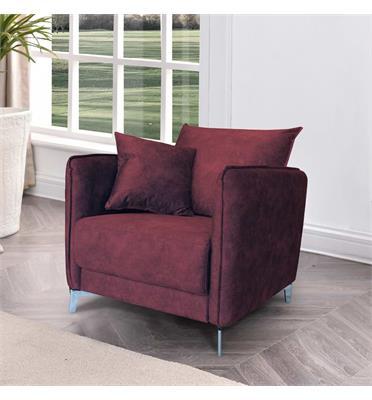 כורסא מעוצבת מרופדת בד קטיפתי רחיץ HOME DECOR דגם קיטו