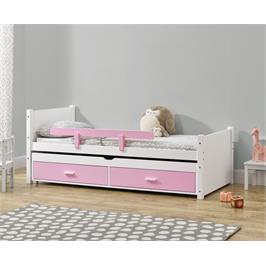 מיטת ילדים מעץ מלא עם מיטת חבר נשלפת מסדרת VERY WOOD של HOME DECOR דגם שני