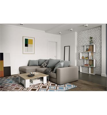 שולחן סלון מרובע עשוי סיבית בגימור מלמין דגם SQUARE