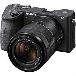מצלמת דיגיטלית ללא מראה 24.2MP גוף+עדשה 18-135 מסדרת אלפה 4K מבית SONY דגם ILC-E6600MB