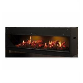 קמין מקרינה סרטון של אש חיה על גבי מסך LCD מבית Dimplex דגם OPTI-V double PGF20 תצוגה