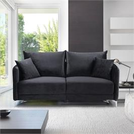 ספה דו מושבית בעיצוב מודרני מרופדת בד קטיפתי HOME DECOR דגם קיטו