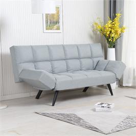 ספה מעוצבת מרופדת בד רחיץ ונפתחת למיטה רחבה HOME DECOR דגם לידור