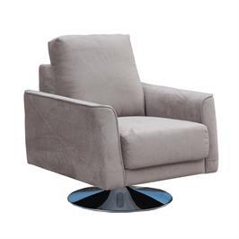 כורסא מעוצבת מרופדת בד רחיץ עם רגל מסתובבת HOME DECOR דגם בריטני