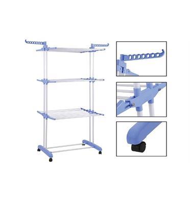 מתקן לייבוש כביסה שלוש קומות על גלגלים