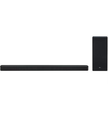 מקרן קול (סאונד בר) 3.1 ערוצים, 420 וואט, עיצוב דק בגימור שחור מוברש עם סאב וופר אלחוטי כולל חיבור HDMI LG דגם SL7Y