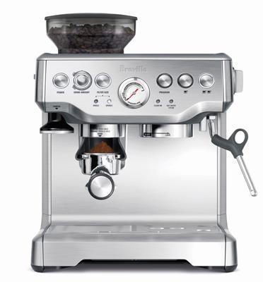מכונת אספרסו ומטחנת פולי קפה תוצרת BREVILLE דגם BES870