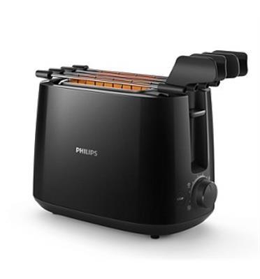 מצנם קומפקטי 600 וואט לקלייה אחידה וקלה תוצרת PHILIPS דגם HD2583/90 שחור