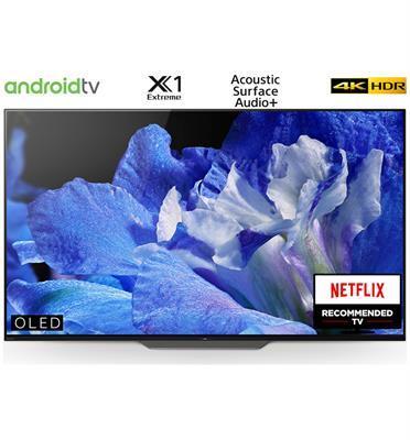 """טלויזיה """"55 4K BRAVIA OLED Android TV תוצרת SONY. דגם KD-55AF8BAEP מתצוגה"""