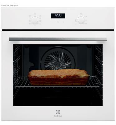 תנור אפיה 9 תוכניות רב תכליתי בגימור לבן זכוכית Borderless Design תוצרת Electrolux דגם EOH6426V