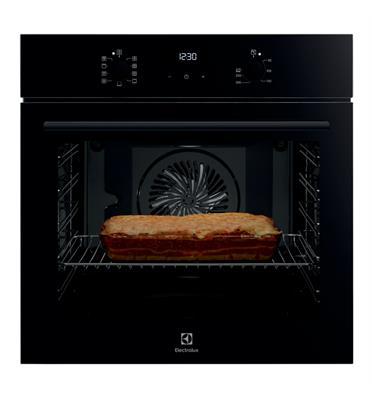 תנור אפיה 9 תוכניות רב תכליתי שחור זכוכית בגימור Borderless Design תוצרת Electrolux דגם EOH6426K