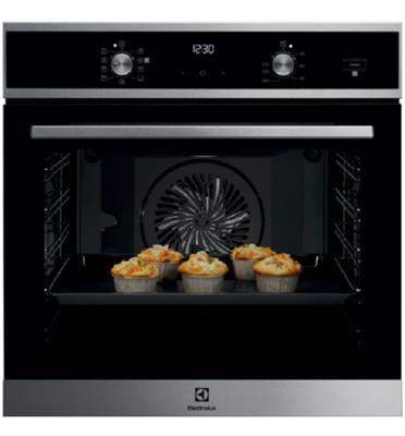 תנור אפיה בנוי רב תכליתי בגימור נירוסטה SteamBake® Borderless Design תוצרת Electrolux דגם EOH6437X
