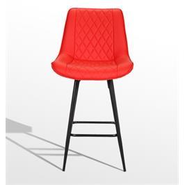 כיסא בר מרופד דמוי עור איכותי בסגנון סקדינבי מבית GAROX דגם טינה