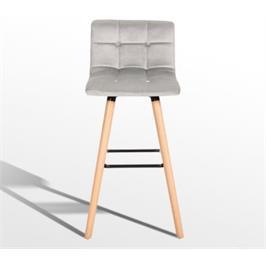 כיסא בר מרופד בד איכותי בסגנון עכשווי מבית GAROX דגם מרי