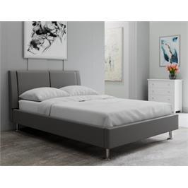 מיטה זוגית דמוי עור איכותי מבית GAROX דגם NICOLE