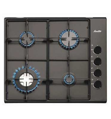 """כיריים גז 60 ס""""מ 4 מבערי גז גימור שחור תוצרת SAUTER דגם SHE8400B"""