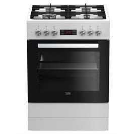 """תנור אפייה משולב כיריים ברוחב 60 ס""""מ כולל טורבו אקטיבי תוצרת BEKO דגם FSM61330DWDSL"""