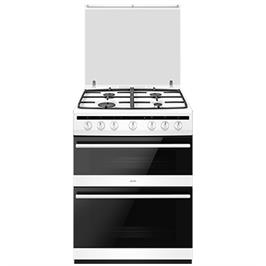 """תנור משולב דו תאי הלכתי 60 ס""""מ 4 להבות 7 תוכניות אפייה בגימור לבן תוצרת SAUTER דגם SDO730W"""