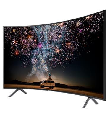 """טלוויזיה מסך קעור """"55 4K Curved SMART TV תוצרת SAMSUNG דגם 55RU7300"""
