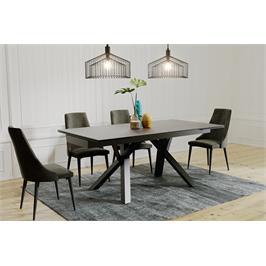 שולחן אוכל קרמיקה מפואר באורך 1.8 מ' נפתח ל- 2.6 מ' עם רגלי מתכת HOME DECOR דגם ברצלונה