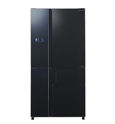 מקרר 5 דלתות זכוכית שחורה בנפח 661 ליטר תוצרת SHARP דגם SJ-R9731