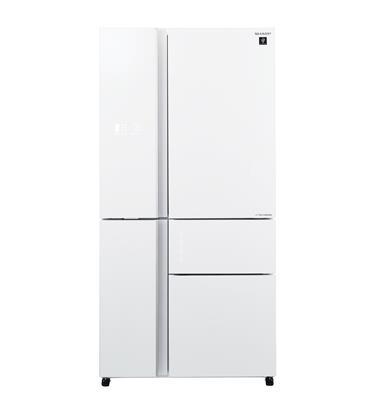 מקרר 5 דלתות זכוכית לבנה בנפח 661 ליטר תוצרת SHARP דגם SJ-R9732