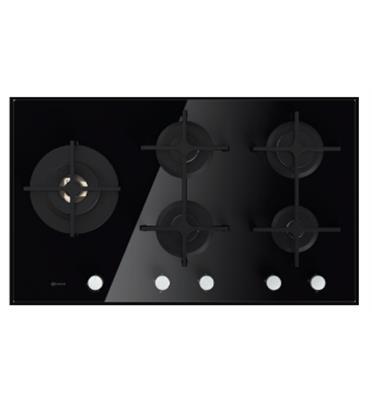 """כיריים גז זכוכית 5 להבות 90 ס""""מ תוצרת Bauknecht דגם TGV6955SW"""