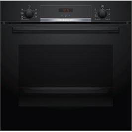 """תנור אפיה בנוי 60 ס""""מ 71 ליטר 5 תוכניות גימור שחור תוצרת BOSCH דגם HBG533BB0Y"""