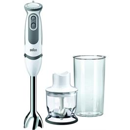 """בלנדר מוט 750 וואט כוס מדידה 600 מ""""ל ללא BPA תוצרת BRAUN דגם MQ5020WH"""
