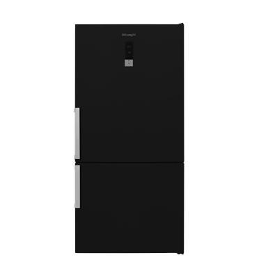 מקרר 2 דלתות NO FROST מקפיא תחתון 582 ליטר תוצרת DELONGHI דגם DLR753BL שחור