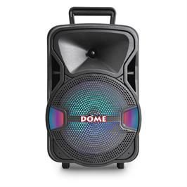 רמקול עם תאורת דיסקו ומיקרופון חוטי DM-2008