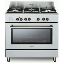 """תנור משולב כיריים 90 ס""""מ ובעיצוב וינטג' צבע לבן תוצרת DELONGHI דגם NDS952W"""