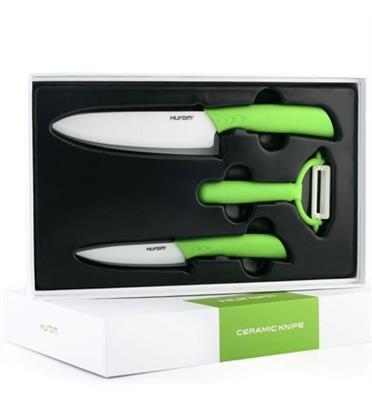 סט סכינים קרמיות מבית HUROM דגם CK602W