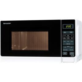 מיקרוגל דיגיטלי בנפח 20 ליטר, 11 עוצמות חום 800 וואט תוצרת SHARP דגם R-209 לבן